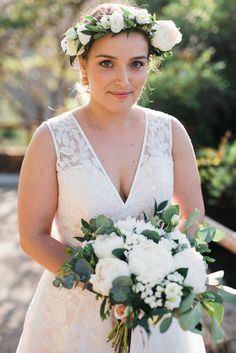 Peonies are always in fashion. Our bride totally embraced it with her beauty! Where the floral wreath at your wedding for the flawless look! Weddings and Events by Crete for Love www.creteforlove.com