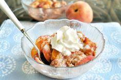 Healthy Peach Breakfast Bake - Can hardly wait for Peach Season!
