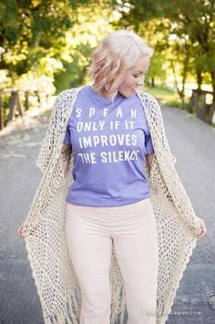 473e73f8 Speak Only if it Improves the Silence - Graphic Tee - Ruby's Rubbish Rubys  Rubbish,
