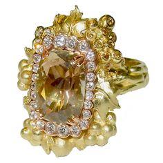 Stambolian Sunstone Diamond Gold Harvest Ring |  https://www.1stdibs.com/jewelry/rings/fashion-rings/