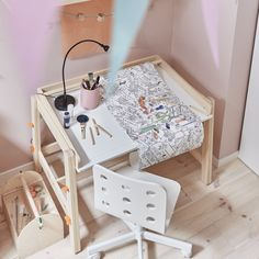 IKEA - FLISAT, Children's desk, adjustable, The desk can be adjusted to three different heights, so it can be used for homework or arts and crafts for many years. The desktop can be tilted to help your child vary their work posture. Furniture Logo, Bedroom Furniture, Home Furniture, Furniture Online, Bohemian Furniture, Playroom Furniture, Furniture Stores, Ikea Childrens Desk, Drawing Paper Roll
