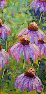Field of Coneflowers II  (half of a diptych)