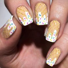Give style to your nails using nail art designs. Used by fashion-forward stars, these nail designs can incorporate instant charm to your apparel. Cute Nail Art, Cute Nails, Food Nail Art, Nail Base Coat, Ice Cream Nails, Nails For Kids, Nail Art Kids, Diy Nail Designs, Nail Designs For Kids