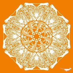 Jaguar Papercutting, Snowflake Pattern, Winter Solstice, 3d Paper, Kirigami, Jaguar, Snowflakes, Stencils, Pictures