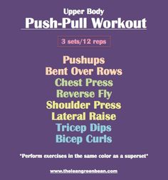 Best of the Bean: Top 30 Workouts - Push Pull Workout