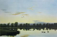 Sir Peter Markham Scott: Sunset from The Artist's Window Hunting Art, Duck Hunting, Antiques Value, Sports Art, Natural History, Galleries, Window, Artists, Sunset