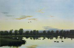 Sir Peter Markham Scott: Sunset from The Artist's Window