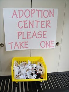 Awesome Dog themed Birthday Party idea. Stuffed doggies adoption center. Will make it much more colorful and cute.