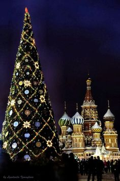 New Year Tree on the Red Square - Moscow, Russia