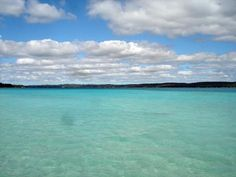 Torch Lake, Michigan. Yes, the water really is caribbean blue..