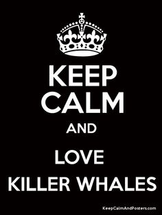 Keep Calm and LOVE KILLER WHALES Poster