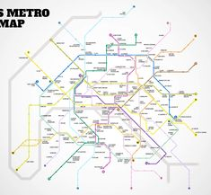 Paris' first Metro Bar Map
