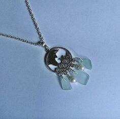 Sea glass necklace. Aqua beach glass by EgyptianInspirations, $29.99