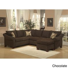 Brooke Chenille Fabric Sectional | Overstock.com