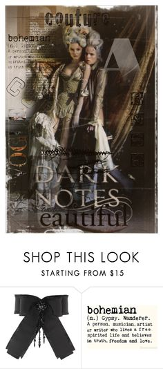 """""""Darkly Romantic Couture: The Other Side of Fashion & Art"""" by tattered-rose ❤ liked on Polyvore featuring Pussycat and Gucci"""