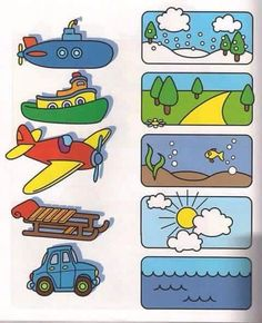 This page has a lot of free printable Transportation worksheet for kids,parents and preschool teachers. Preschool Learning Activities, Preschool Worksheets, Toddler Preschool, Preschool Activities, Teaching Kids, Kids Learning, Alphabet Worksheets, Toddler Worksheets, Teaching Spanish
