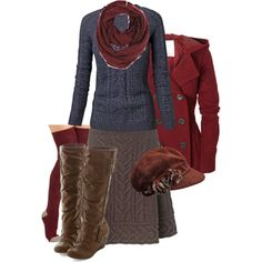 """Winter is around the corner...."" by marybweird on Polyvore"