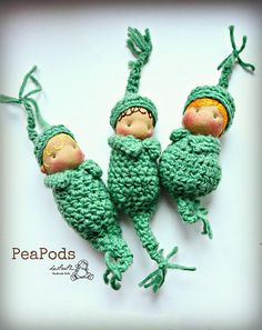 PeaPods, by LesPouPZ Handmade Dolls, available Wed March 19th at 12 French time zone at https://www.etsy.com/shop/LESPOUPZ?ref=si_shop