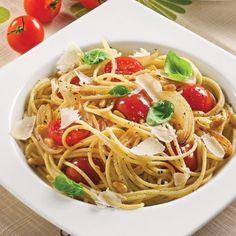Spaghettis aux tomates cerises et noix de pin - Recettes - Cuisine et nutrition - Pratico Pratique