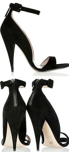 Miu Miu Classic black suede sandals §