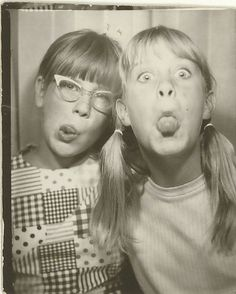 Photo Booth, 1960s ....  If this had said 1950's the one on the right could have been me! It looks more like me than I did! haha