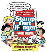 Stamp Out Hunger Food Drive May 14, 2016