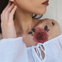 Peony Temporary Tattoo / Neck tattoo / King's flower / Colorful flash tattoo / Female Thigh tattoo / Festival accessory / Tattoo for girl Fake Tattoos, Great Tattoos, Trendy Tattoos, Flower Tattoos, New Tattoos, Girl Tattoos, Tattoo Floral, Awesome Tattoos, Tribal Tattoos