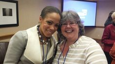 Taryn Williams with Liz Perkins at directors retreat
