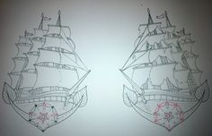Ship Tattoo Design Old School by ~booders9 on deviantART