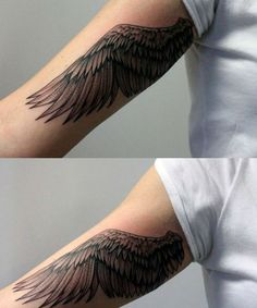 7 Of The Most Inspiring Wing Tattoo Ideas on Arm You Should Try Now Exotic Tattoos, Hot Tattoos, Tribal Tattoos, Wing Tattoo Arm, Back Of Arm Tattoo, Wing Tattoo Designs, Tattoo Designs For Women, Arm Tattoos For Women, Tattoos For Guys