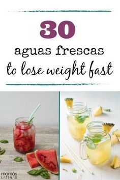 These aguas frescas, or detox waters, will help you lose weight and get healthy. Detox Diet Drinks, Detox Juice Recipes, Natural Detox Drinks, Fat Burning Detox Drinks, Water Recipes, Detox Juices, Juice Cleanse, Cleanse Detox, Cleanse Recipes
