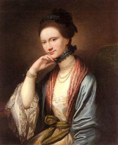 1788 Benjamin West - Portrait of Ann Barbara Hill Medlycott