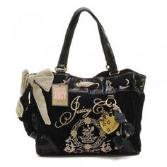 Juicy Couture White Bowknot Bag Black Whole Price Tag Authentic Bags Hot