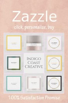 Indigo Coast Creative: Designs & Collections on Zazzle Elegant Business Cards, Professional Business Cards, Business Card Design, Beauty Industry, Creative Design, Indigo, Stylists, Coast, Place Card Holders