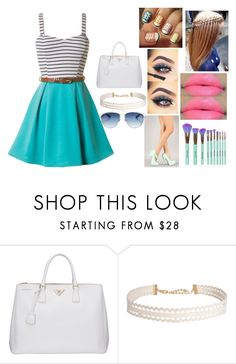 """Untitled #505"" by rasberry893 on Polyvore featuring Maybelline, Prada, Humble Chic and Christian Dior"