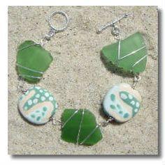 Beautiful sea glass bracelet (SeaSalt Jewelry - Martha's Vineyard)
