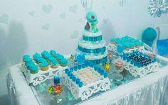 Chá de Bebe Azul Turquesa Pokemon  By: Erika Mello #babyshower #chadebebe #chadebebeturquesa #chadebebepokemon