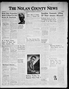 Weekly newspaper from Sweetwater, Texas that includes local, state, and national news along with advertising.