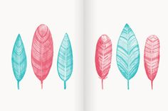 PS Brushes: Watercolor Feathers by Pixelwise Co. on Creative Market