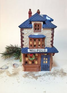 Vintage Dickens' Village Scene Walpole by northandsouthshabby, $14.99