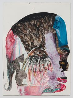 Wangechi Mutu - Family Tree, 2012.One of 13 mixed-media collages on paper