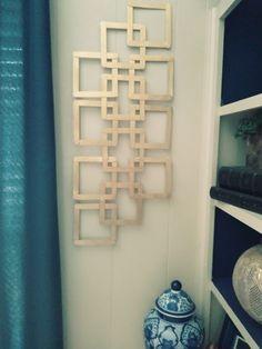 Stick Wall Art, Diy Wall Art, Home Decor Wall Art, Diy Wall Decor, Wall Art Crafts, Craft Room Decor, Diy Crafts For Home Decor, Diy Crafts For Gifts, Diy Arts And Crafts