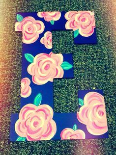 Hand painted letter 13 by ShortsNBowsNSuch on Etsy, $17.00