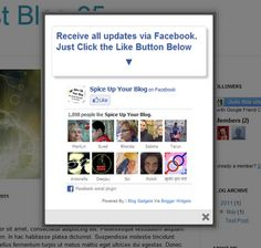 how to add Facebook pop up to blogger blogs