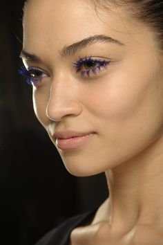 Australia's Shanina Shaik looking incredible with blue lashes! #beauty #asos