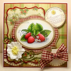 Love these strawberries - and the paper!    Great design too!