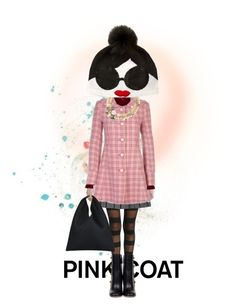 """Punk in pink"" by ajkc ❤ liked on Polyvore featuring Alix, Gucci, Lanvin, Alice + Olivia and MM6 Maison Margiela"