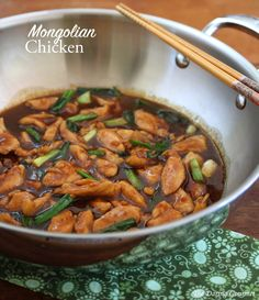 Mongolian Chicken. Super fast and easy and rivals your favorite takeout! #chicken daringgourmet.com