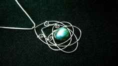 Labradorite Necklace Pendant Wire Wrapped by KrystalzKreations, $35.00