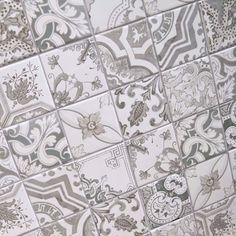 10x10cm Nikea Sephia mix pattern tile set